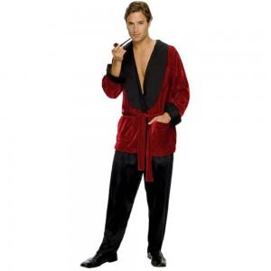 Homemade Hugh Hefner Costume