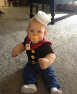 Homemade Popeye Costume