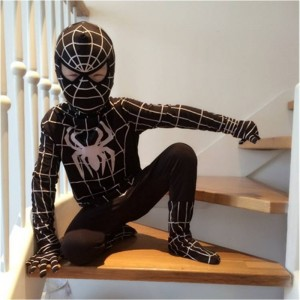 Kids Black Spiderman Costume