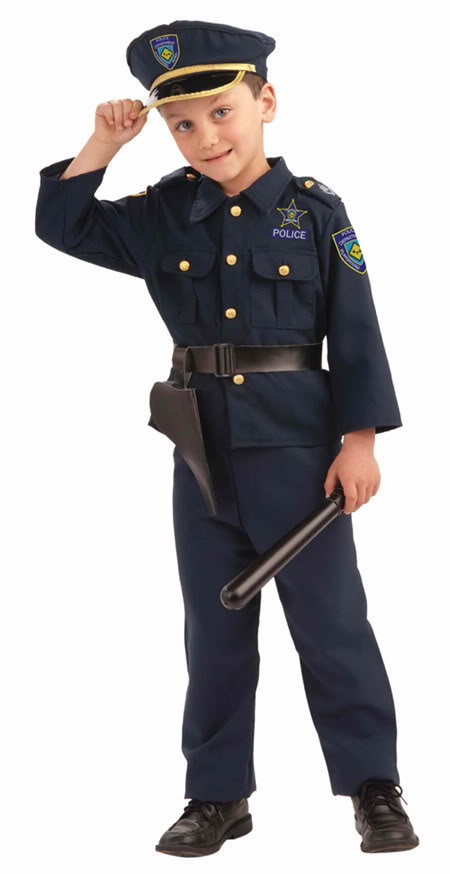 Police officer costumes for men women kids parties costume - Police officer child costume ...