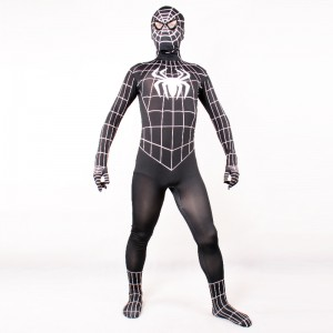 Mens Black Spiderman Costume