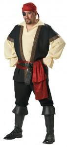 Mens Plus Size Pirate Costume