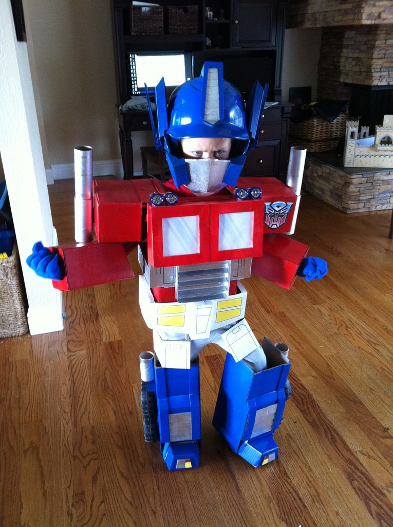 how to build a transforming optimus prime costume