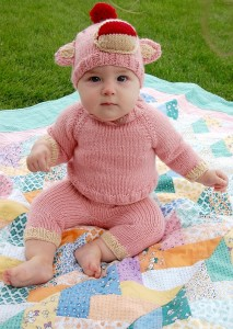 Pink Sock Monkey Costume