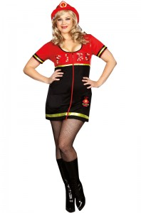 Plus Size Firefighter Costume