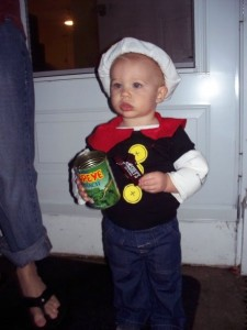 Popeye Costume for Baby