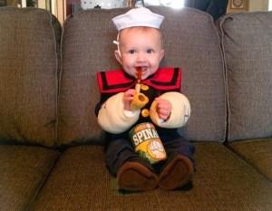 Popeye Infant Costume