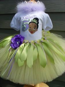 Princess Tiana Tutu Costume
