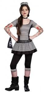 Prisoner Costume for Girls