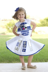 R2D2 Costume Girls