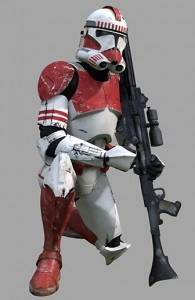 Red Clone Trooper Costume