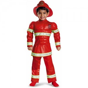 Red Fireman Costume
