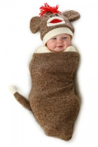 Sock Monkey Baby Costume