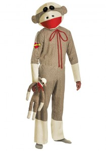 Sock Monkey Costume Men