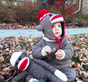 Sock Monkey Toddler Costume