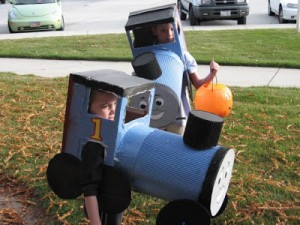 Thomas the Train Costume DIY