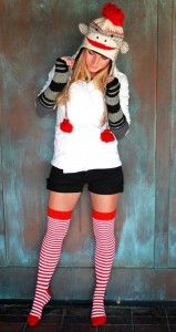 Womens Sock Monkey Costume